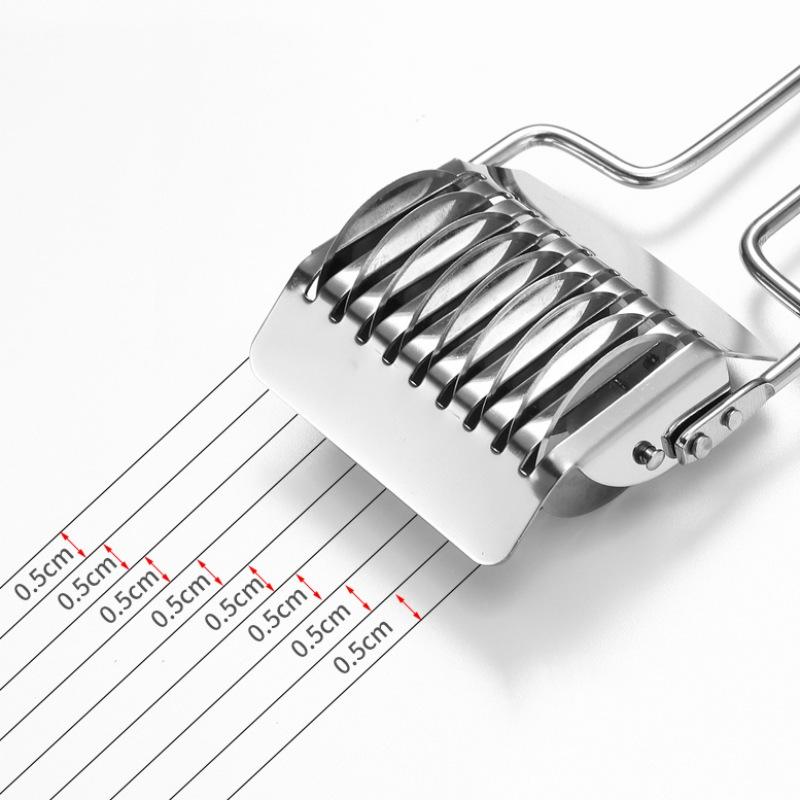 Kitchen-Stainless-Steel-Noodle-Lattice-Roller-Manual-Pasta-Dough-Cutter-Maker-US thumbnail 3