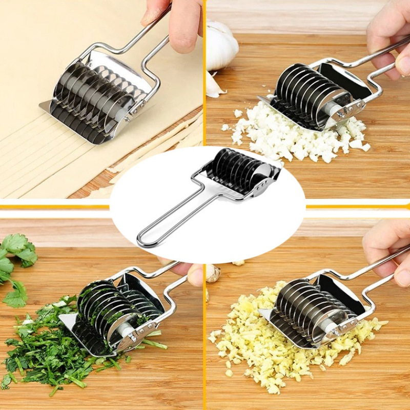 Kitchen Stainless Steel Noodle Lattice Roller Manual Pasta D