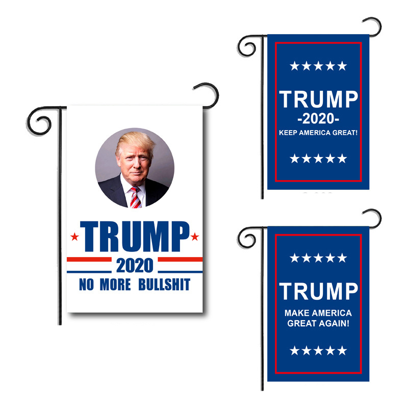 Garden Double Sided Flag for Supporting Trump 2020 Outdoor H