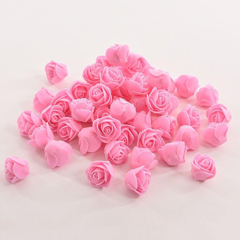US 50pcs Mini Roses Artificial Fake Silk Flower Heads Home Wedding ...