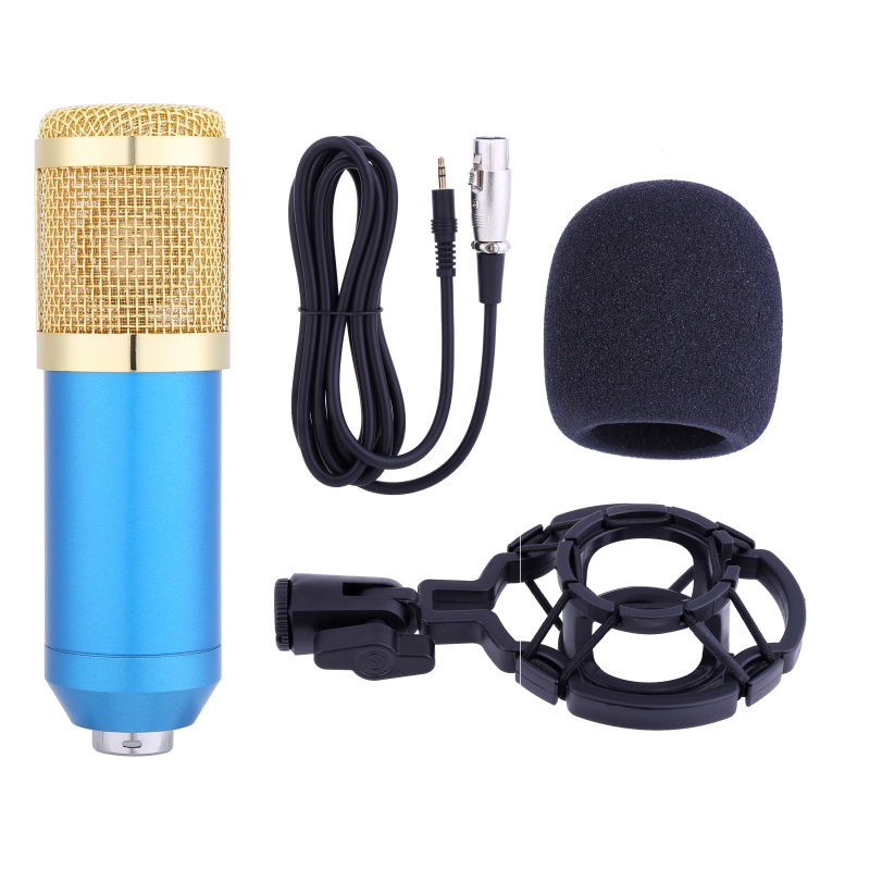 professional microphone set studio broadcasting recording set for computer new ebay. Black Bedroom Furniture Sets. Home Design Ideas