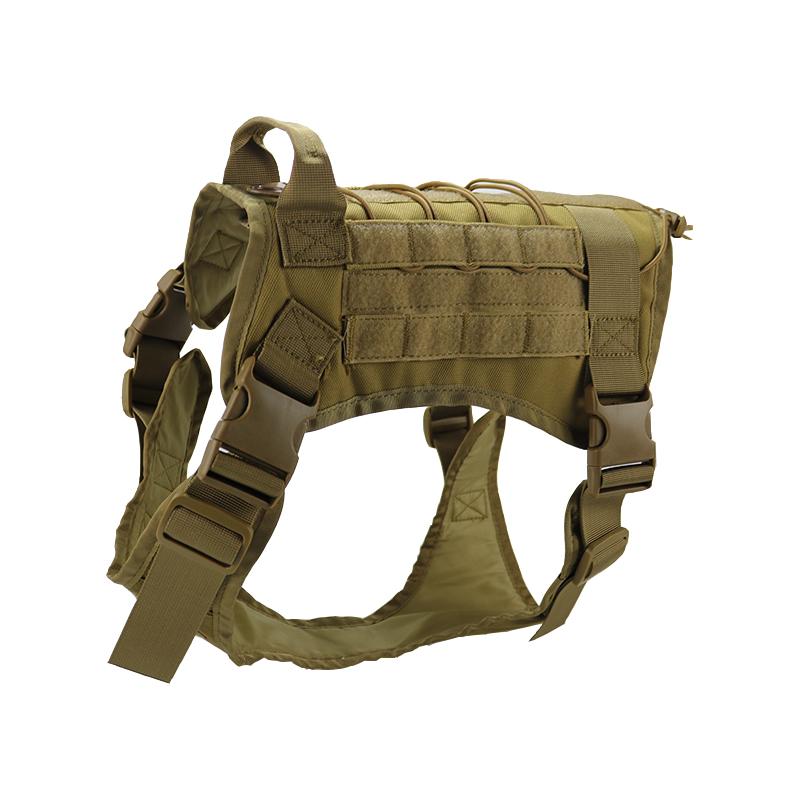 Tactical-Military-Police-K9-Training-Dog-Harness-Adjustable-Molle-Nylon-Vest thumbnail 14