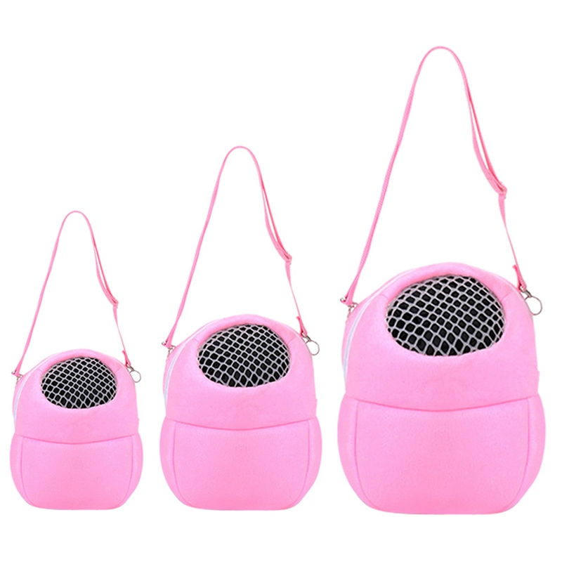 Small Animal Carrier Bag Hamster Chinchilla Travel Warm Bag Guinea Pig Pouch Bed Pink