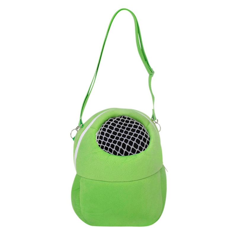 Small Animal Carrier Bag Hamster Chinchilla Travel Warm Bag Guinea Pig Pouch Bed Green