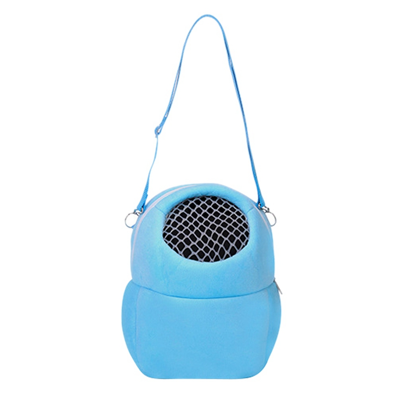 Small Animal Carrier Bag Hamster Chinchilla Travel Warm Bag Guinea Pig Pouch Bed Blue