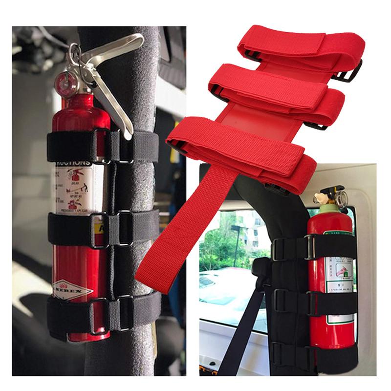 Car Roll Bar Fire Extinguisher Holder Adjustable Mount Brack