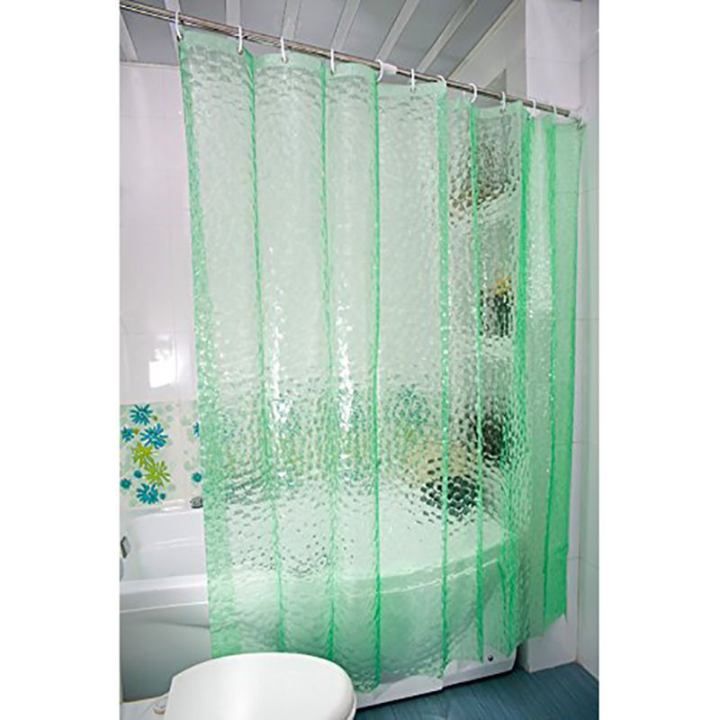 Clear 3D Water Cube Thickened Bathroom Bath Shower Curtain